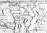 the 1724 Budgen map, 1 inch to 1 mile, showing only the south of the parish. one day we might find a more complete copy