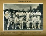 The earliest team photo of Rudgwick CC is the 1951 team