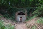 the Rudgwick (southern) entrance to Baynards Tunnel. The Downs Link by-passes this over the hill.