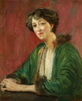 Katherine, Lady Tredegar, lived at Honeywood House 1914 to her death in 1949 Eccentric, probably mentally ill, she neverthelss entertained many artistic personalities in Rudgwick (painting by Augustus John)