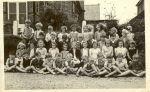 Miss Tuff's infants met at the Social Club, Loxwood Rd, as school numbers increased, c1949