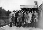 Rudgwick Girl Guides off to camp at Rudgwick Station, 1927