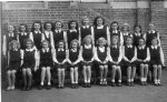 Rudgwick School, senior girls ( children spent their whole school life in the village school in Bucks Green
