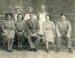 Rudgwick school staff, 1952, headmaster Mr Denton centre (1948-?), Miss Tuff 2nd right