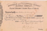 A £10 share certificate for the H&GDRC, 1861, in the name of promoter Wm McCormick of Liverpool
